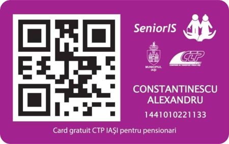 Card de calatorie SeniorIS